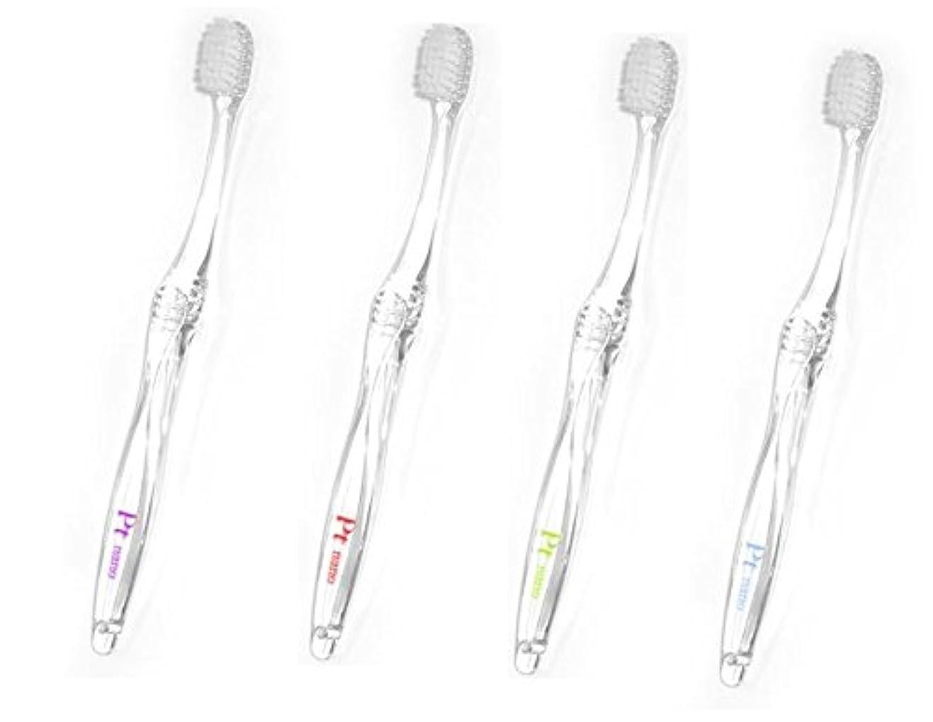 組立時計十プラチナナノ歯ブラシ プラチナ スマイル M 大人用 4本