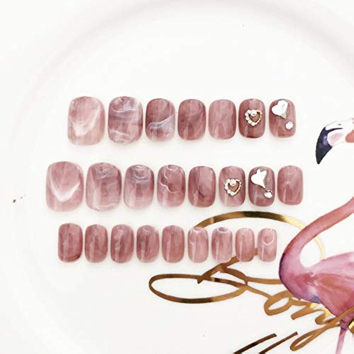 肉屋安息本物Jonathan ハンドケア 24pcs 12の異なるサイズの人工の偽の釘のピンクの赤い正方形のアクリルの完全なカバー偽造の釘