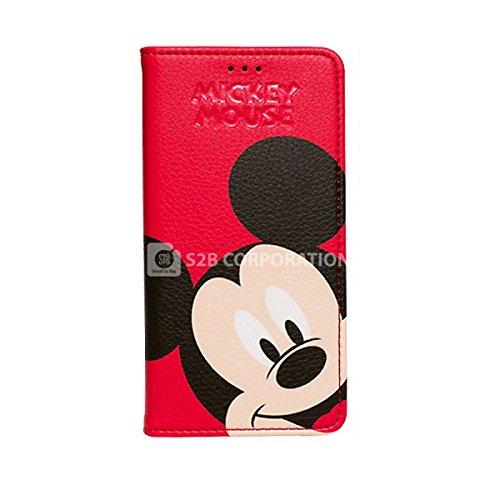 Galaxy S4 Disney Color Flip ディズニー カラー フリップ 手帳型 ケース カバー レッドミッキー / Red Mickey ギャラクシー S4 (SC-04E)