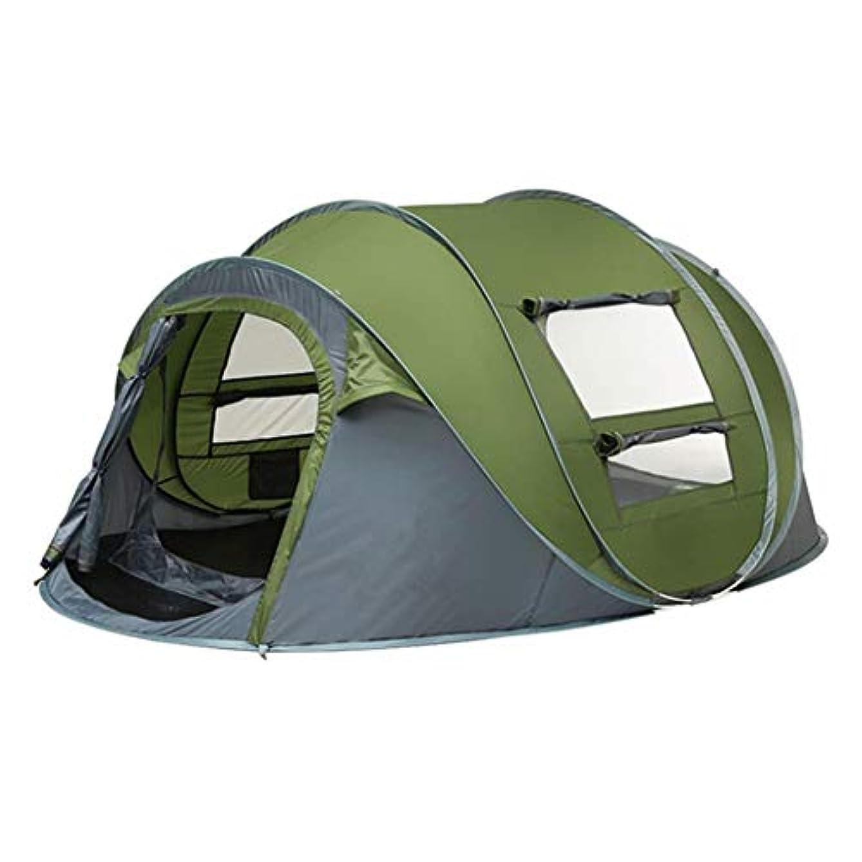 ゴム定刻規制するスローテント屋外自動テント投げポップアップ防水キャンプハイキングテント防水大家族テント