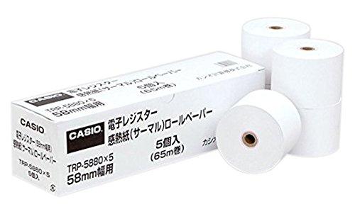カシオ レジペーパー 5個入 TRP-5880X5