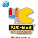 パックマン 40th 透明ステッカー 40周年 記念 ゲーム キャラクター PAC-MAN ライセンス商品 LCS1049 gs グッズ