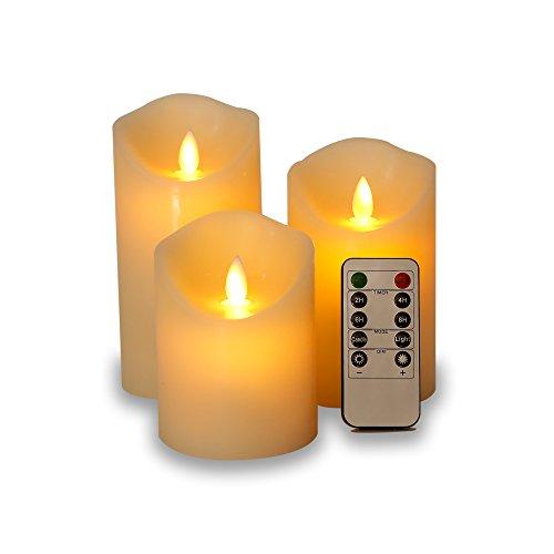 HORICHゆらゆらLEDキャンドルライト 癒しの雰囲気 間接 照明 3点セット 専用リモート