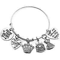 Kit's Kiss Birthday Gift for Women, 10th 13th 16th 18th 21st 30th 40th 50th 55th 60th 70th Birthday Bracelet, Birthday Bangle Bracelet, Birthday Bangle Jewelry