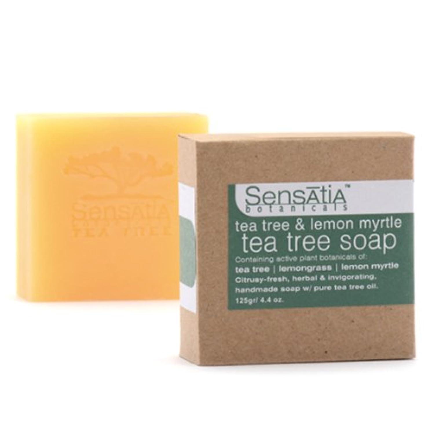 適合先生吸い込むSensatia(センセイシャ) ティーツリーソープ レモンマートル 125g
