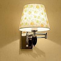 Chuiqingwang ヨーロッパの簡単な壁ランプの調光器スイッチE27光源 (Color : A)