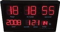 HOUSE USE PRODUCTS(ハウスユーズプロダクツ) LED 時計 OPTIM レッド ACL114 [正規代理店品]