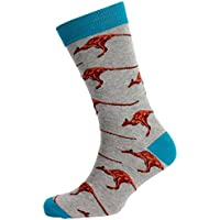 Mitch Dowd Men's Kangaroos Jacquard Crew Animal Pattern Novelty Socks