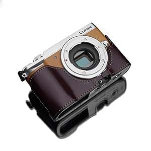GARIZ Panasonic LUMIX DMC-GX7MK2用 本革カメラケース XS-CHGX7MK2BR ブラウン