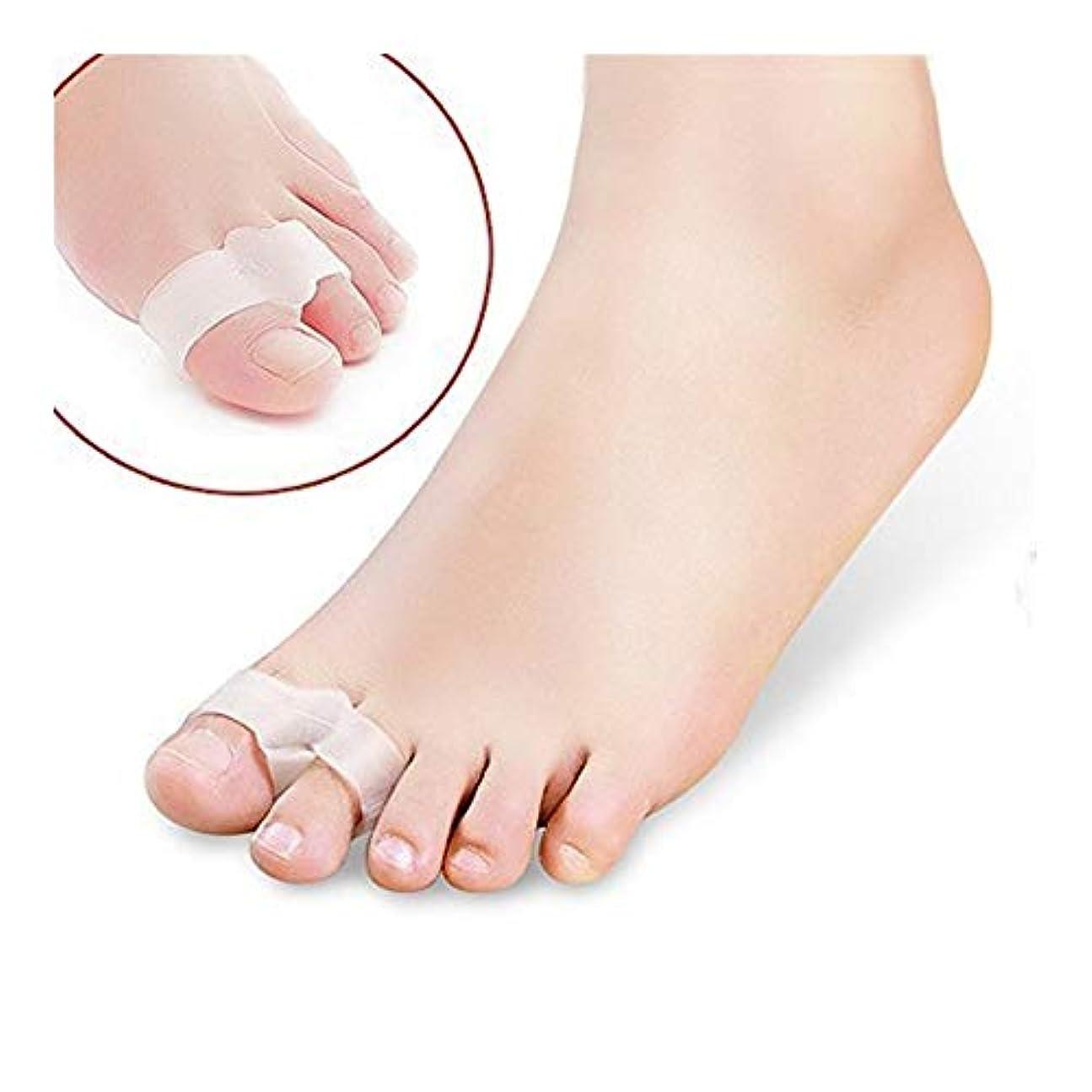 チーフ実験欠乏外反母趾サポーター 親指矯正グッズ 厚型ジェルパッド 足指を広げる 痛み改善 快適歩行 靴下履ける 高品質シリコン制 伸縮性 通気性 男女兼用 [1組] おしゃれ 人気