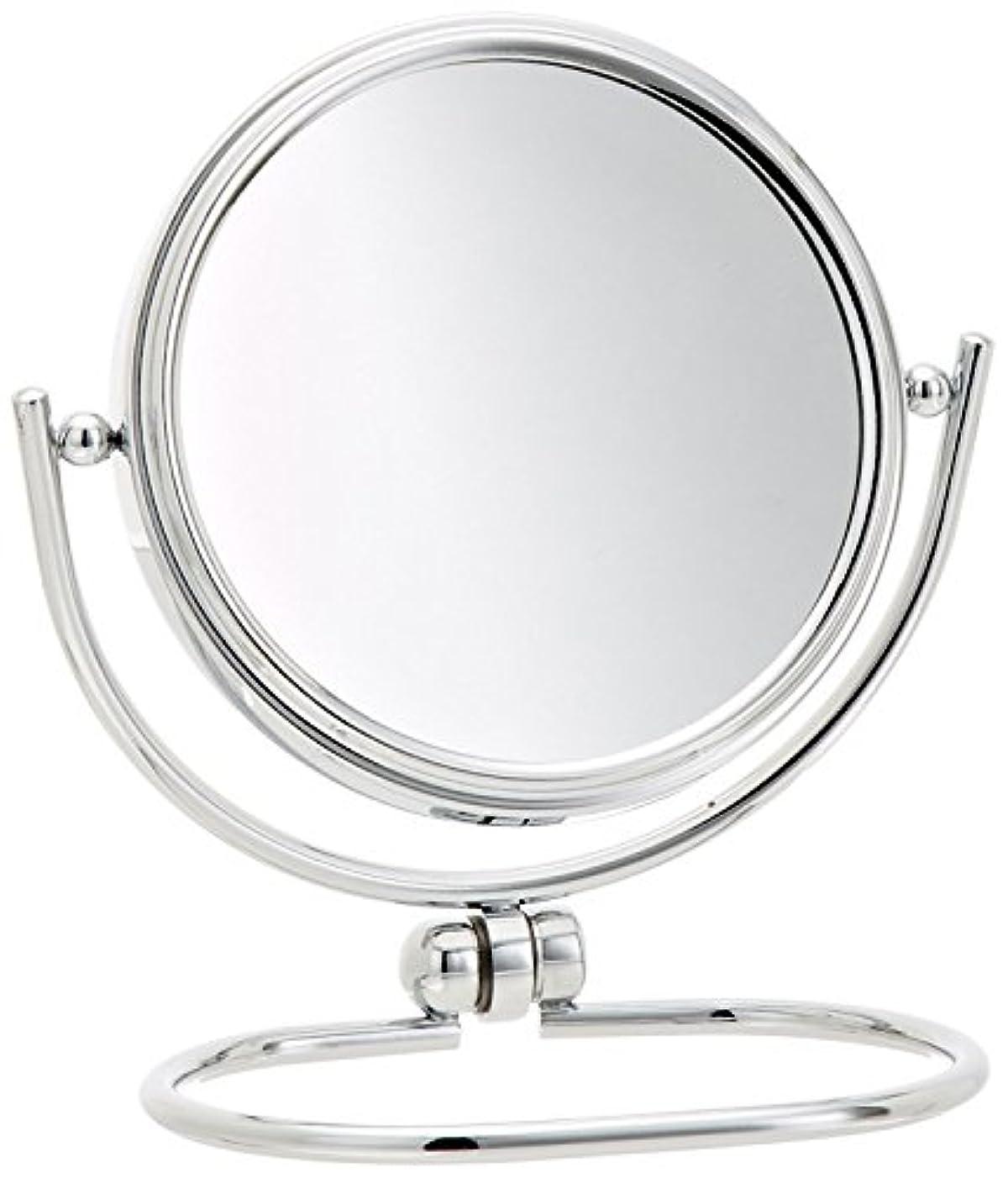 許容できる幸運なことにJerdon(ジェルドン) / MC310C (クローム) 《折りたたみ式拡大鏡》 [鏡面 直径8cm] 【10倍率/等倍率】 卓上型コンパクトミラー