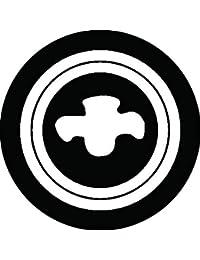 家紋シール 二重輪に十文字紋 布タイプ 直径40mm 6枚セット NS4-2512