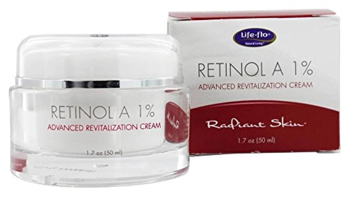 バクテリア省略する衝動海外直送品 Life-Flo Retinol A 1% Advanced Revitalization Cream, 1.7 oz