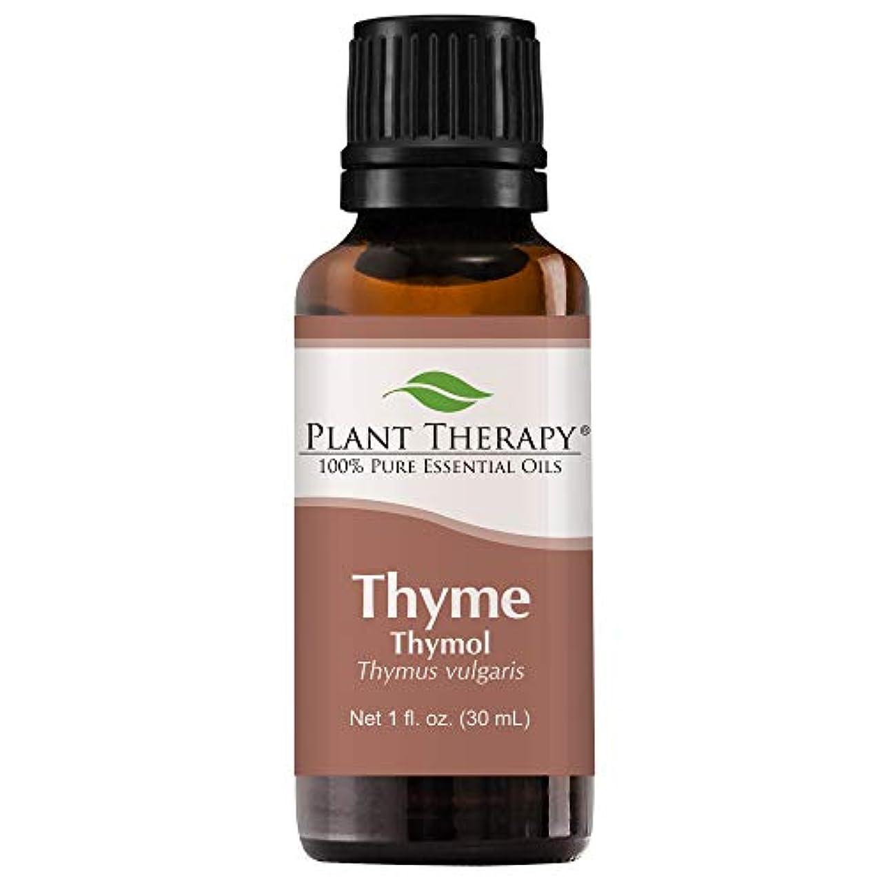ブラウスアラブサラボパンチPlant Therapy Thyme Thymol Essential Oil. 100% Pure, Undiluted, Therapeutic Grade. 30 ml (1 oz). by Plant Therapy...