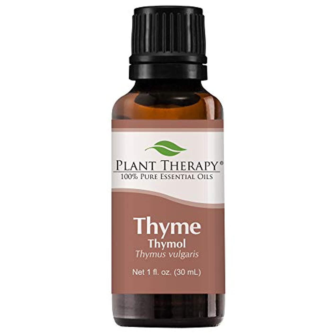 非常に怒っています撤退突進Plant Therapy Thyme Thymol Essential Oil. 100% Pure, Undiluted, Therapeutic Grade. 30 ml (1 oz). by Plant Therapy Essential Oils