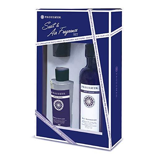プラウドメン スーツリフレッシャー 200ml (グルーミング・シトラスの香り) + フレグランスディフューザー 60ml (グルーミング・シトラスの香り) セット