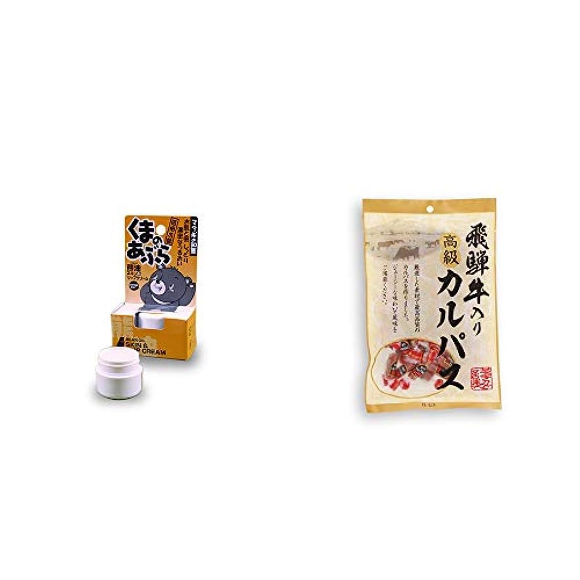 [2点セット] 信州木曽 くまのあぶら 熊油スキン&リップクリーム(9g)?厳選素材 飛騨牛入り高級カルパス(100g)