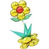 Kesoto 1セット フラワーバルーン 大きな花 花のバルーンコラムセット ベビーシャワー 子供 パーティー 風船 飾り 装飾 全6色選べる - ゴールド