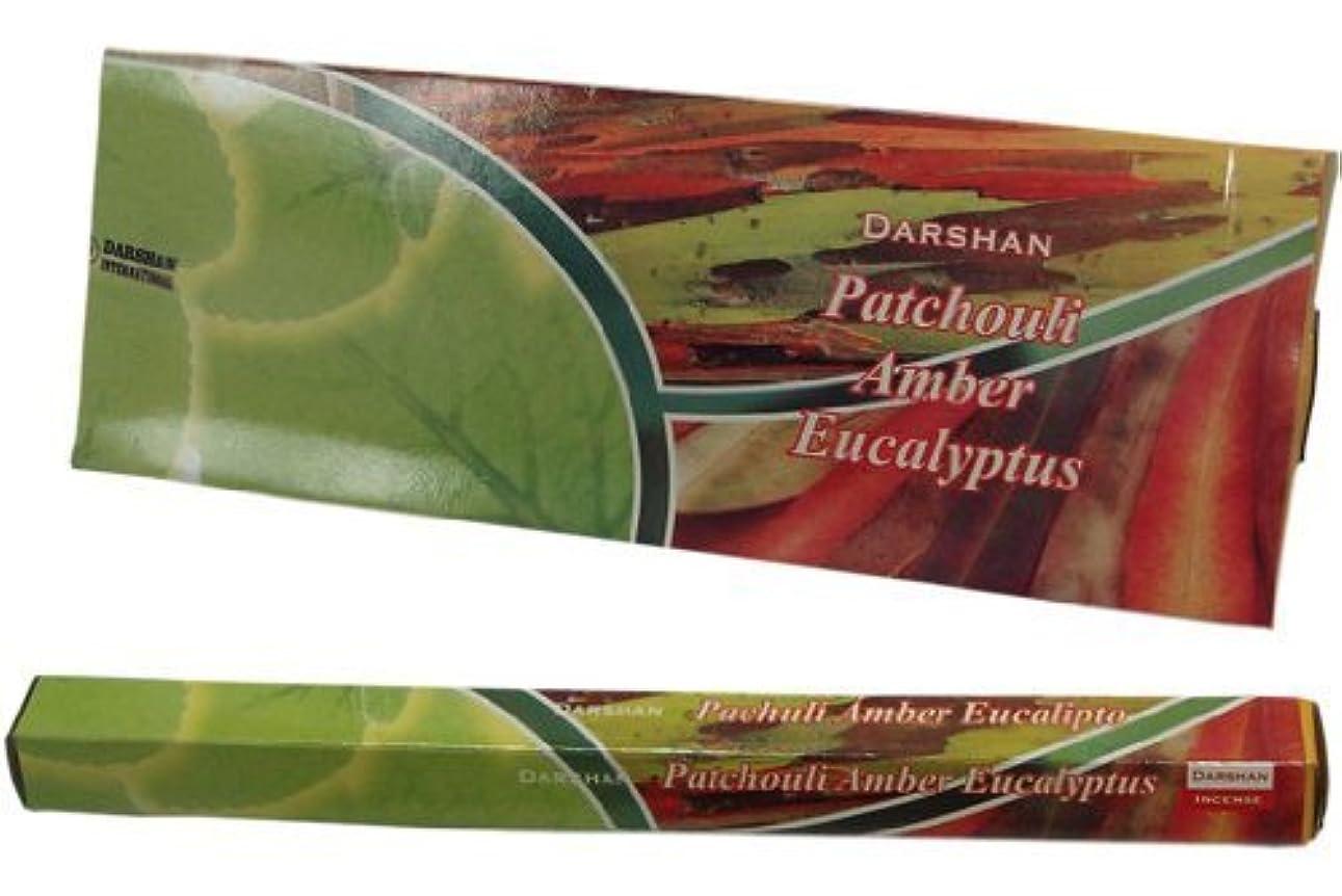 物足りない発生抽出Patchouli Amberユーカリ – 120 Sticksボックス – Darshan Incense
