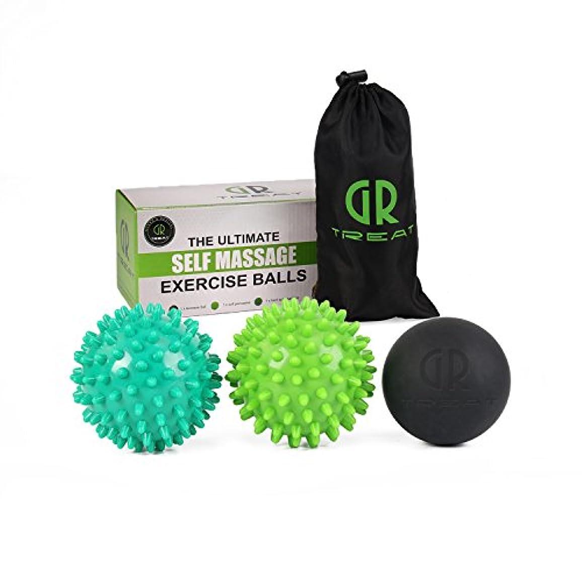 居間圧縮する枯れるGR マッサージボール ピーナッツ トリガーポイント マッサージボール 筋膜リリース ディープティッシュマッサージツール筋リリース、筋リラクサー、ツボマッサージ