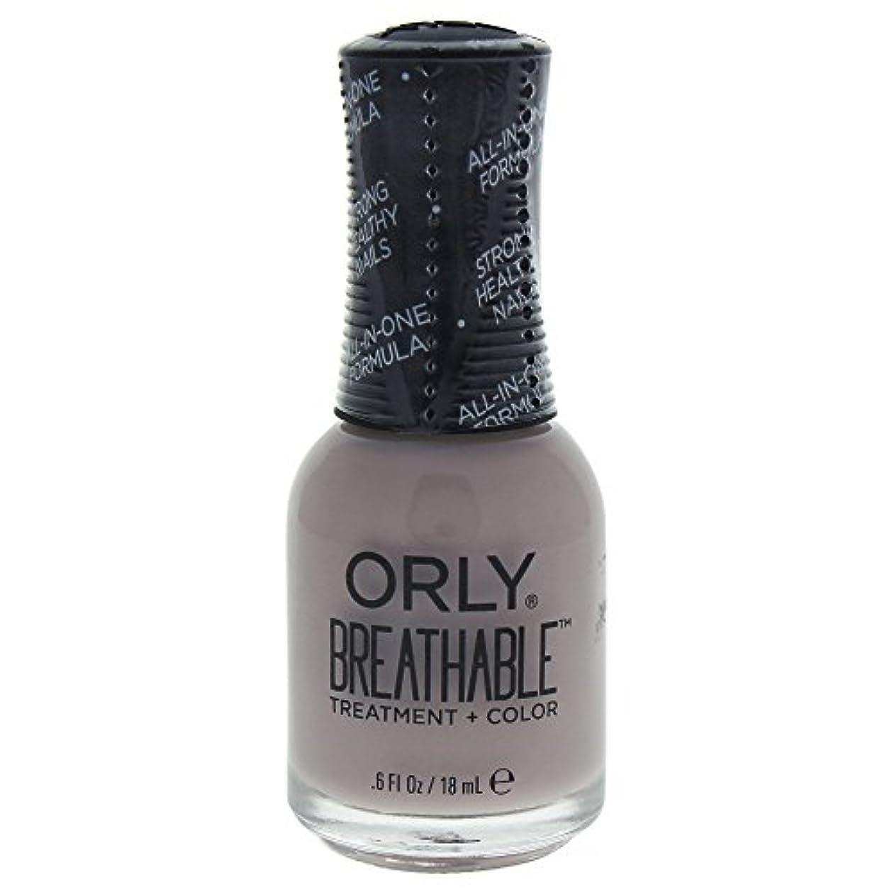 ベジタリアンイデオロギー取り出すOrly Breathable Treatment + Color Nail Lacquer - Staycation - 0.6oz / 18ml