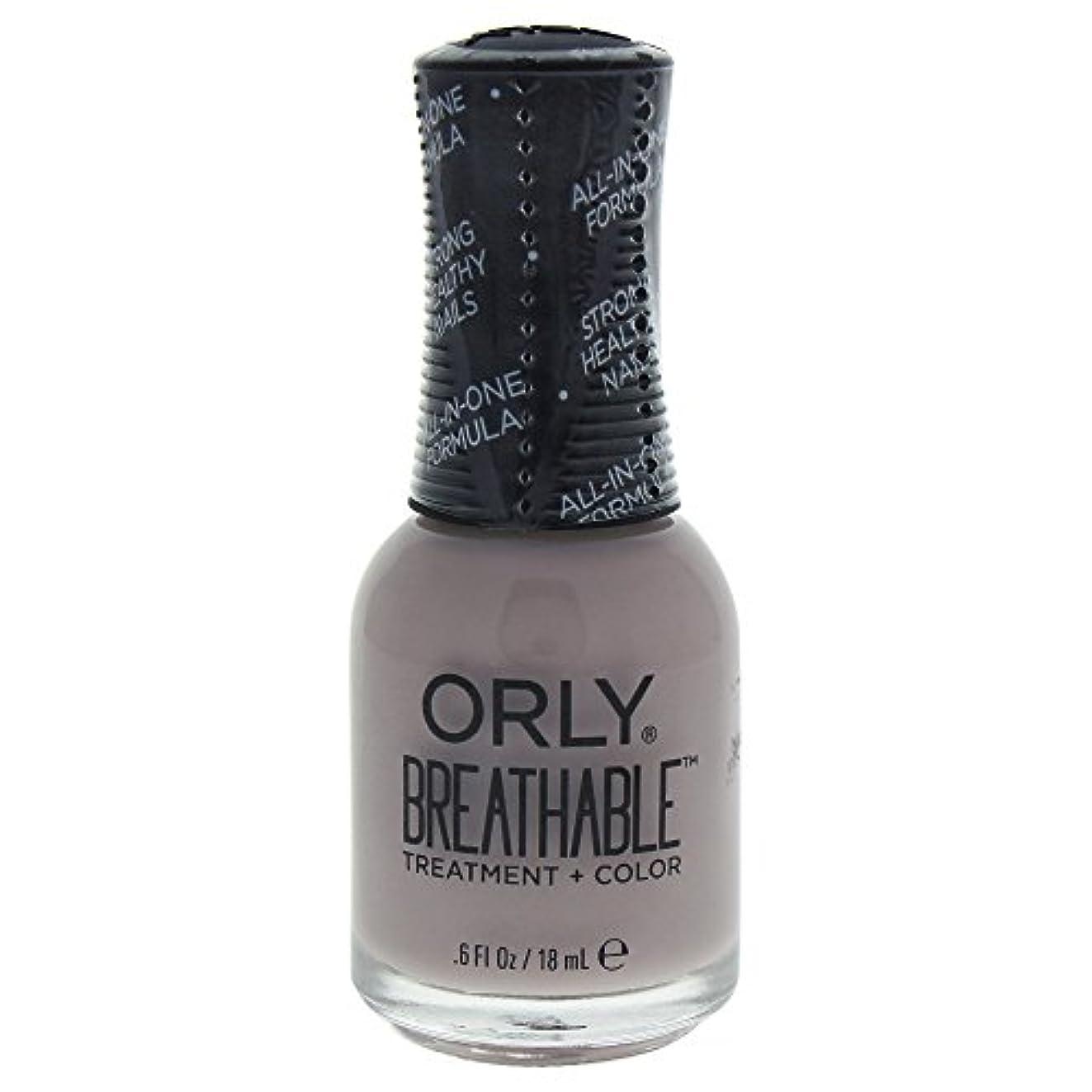 朝コンテンツ枢機卿Orly Breathable Treatment + Color Nail Lacquer - Staycation - 0.6oz / 18ml