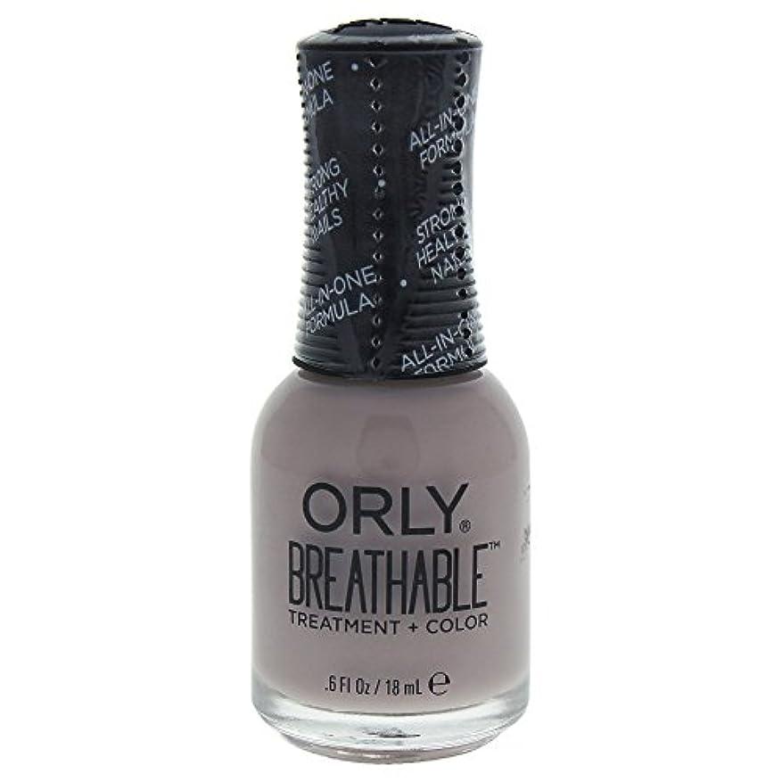 極地平和的はっきりしないOrly Breathable Treatment + Color Nail Lacquer - Staycation - 0.6oz / 18ml