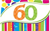 Creative Converting 明るく大胆な60歳の誕生日招待状8枚セット