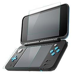 ALLcaca New ニンテンドー 2DS LL フィルム New Nintendo 2DS LL PET  ケース 指紋防止 全面保護 高透過率 超薄 防塵 カバー 2画面用セット