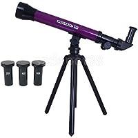 キッズパープル20 x 40 x 60 x天体望遠鏡Stargazing with Tripod Toy