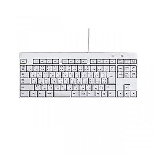 エレコム コンパクト有線キーボード テンキーレス 日本語92キー(ホワイト) TK-FCM084WH