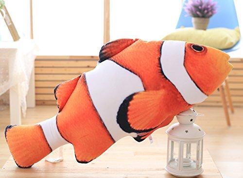 MILEE さかな抱き枕 魚ぬいぐるみ 本物そっくり カクレクマノミ リアルおもちゃ 子供玩具 抱き枕 クリスマス・イベント・ベビー誕生日 (120cm)