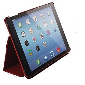 ELECOM iPad Air 2 ソフトレザーカバー 2アングルスタンドタイプ ハンドホールドベルト付き レッド TB-A14PLF1RD