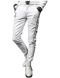 f01294e7e01a9f Amazon.co.jp: ホワイト - パンツ / メンズ: 服&ファッション小物