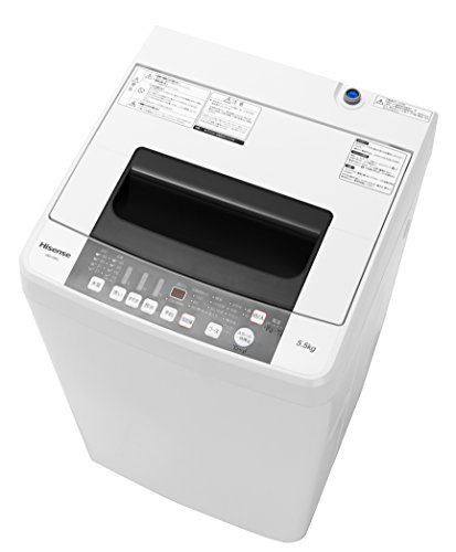 ハイセンス 5.5kg 最短10分で洗濯できる スリムボディー 全自動洗濯機 HW-T55C