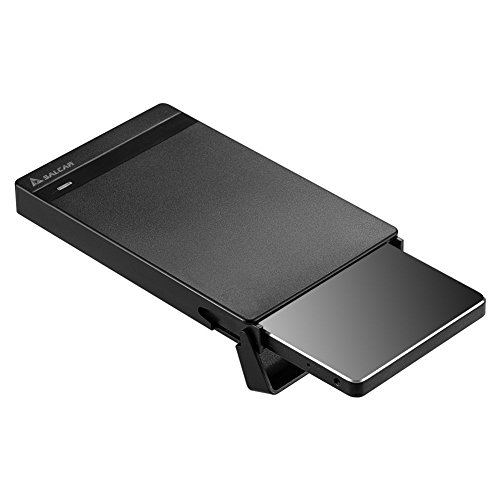 Salcar  2.5インチ 高速USB3.0対応 5 Gbps  SATA III(6GB)対応 HDD/SSD 外付け ドライブケース 6TB容量対応 9.5mm/7mm厚両対応 自動スリープ機能付き 省電力 LEDランプ搭載 Windows/Mac両対応 リムーバブルケース ハードディスクケース USB3.0 ケーブル付属 薄型軽量 プラグ&プレー ネジ&工具不要 簡単着脱 ブラック