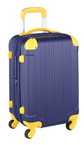 スーツケース キャリーケース キャリーバッグ ■安心1年保証■ S サイズ キャリーバック ファスナー 2日 3日 4日 5日 ハードキャリー ジッパー 小型 TSAロック 拡張 かわいい 全サイズ 有り 5082-55 ネイビー・イエロー
