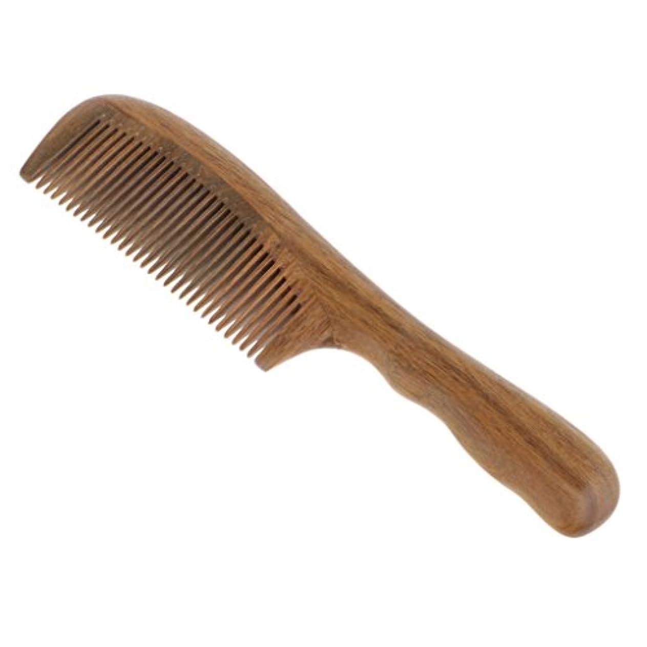 ワードローブ証書一瞬コーム 櫛 木製 ヘアブラシ ウッドコーム 頭皮マッサージ 帯電防止 2タイプ選べる - 細かい歯