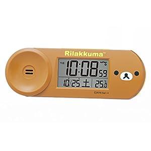 セイコー クロック 目覚まし時計 リラックマ Rilakkuma デジタル 電波 ブラウン CQ147B SEIKO
