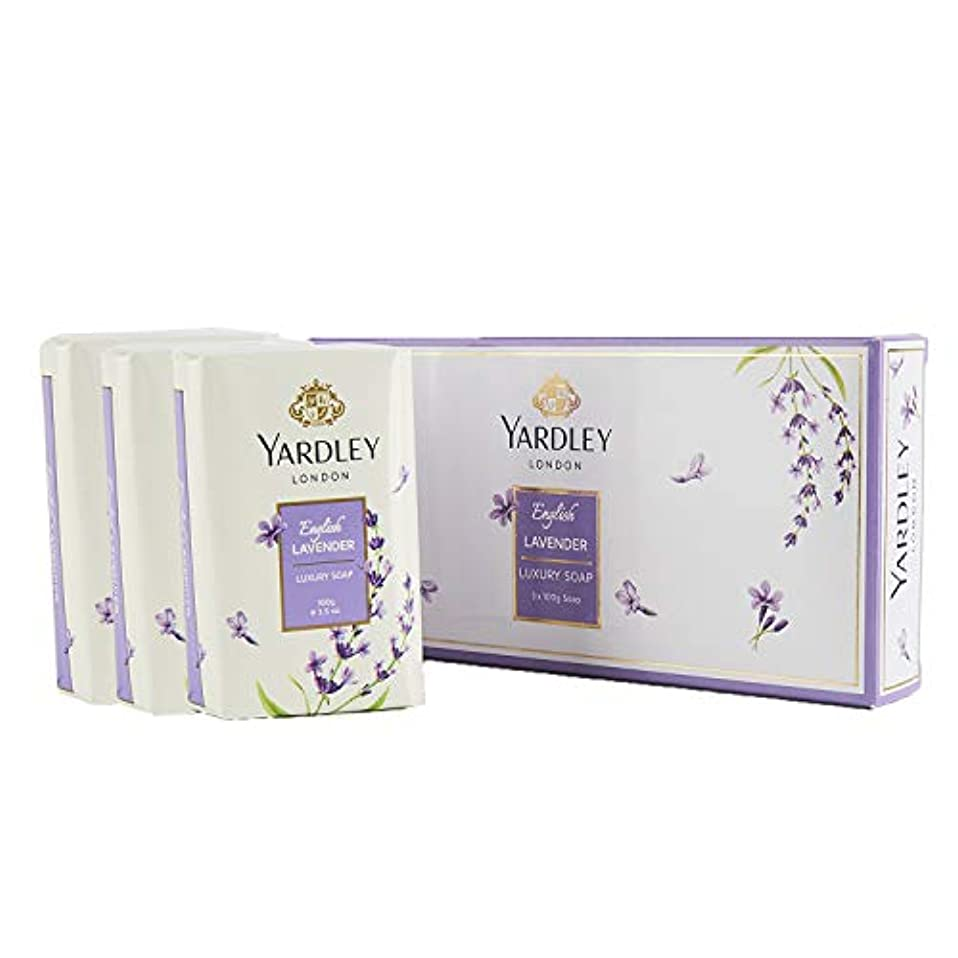 帳面食欲引退したYardley English Lavender Luxury Soap, 3x100gm