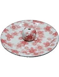 9-21 満開桜 9cm香皿 お香立て お香たて 陶器 日本製 製造?直売品