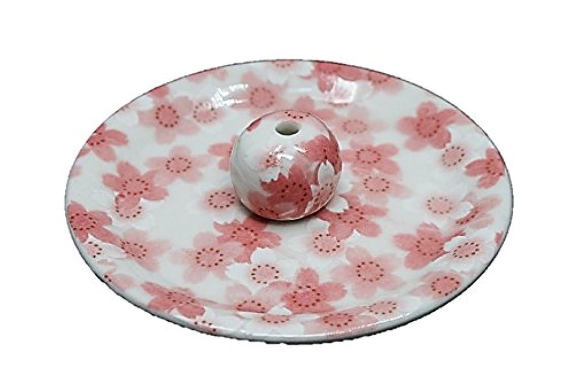 シプリー明るいステッチ9-21 満開桜 9cm香皿 お香立て お香たて 陶器 日本製 製造?直売品