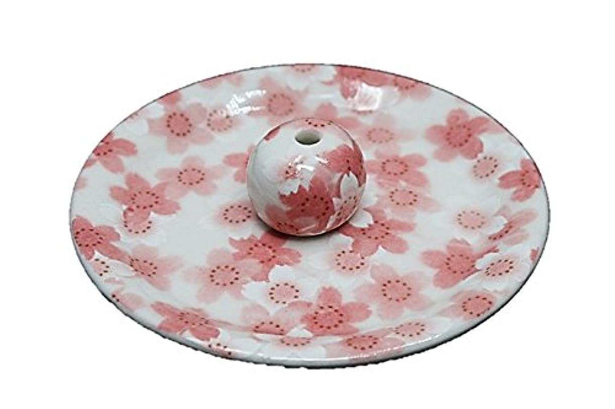 資本主義協力的シュリンク9-21 満開桜 9cm香皿 お香立て お香たて 陶器 日本製 製造?直売品