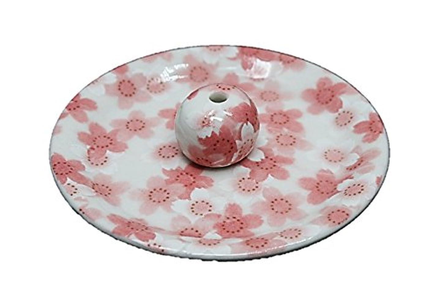 キャンパス再び警戒9-21 満開桜 9cm香皿 お香立て お香たて 陶器 日本製 製造?直売品