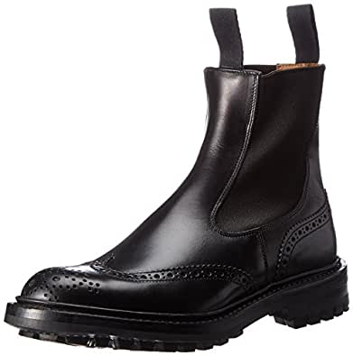 [トリッカーズ] Tricker's Side Elastic Brogue Boot   -   Calf / Commando Sole HENRY M2754 BLACK Box calf BLACK Box calf US 7(25cm)