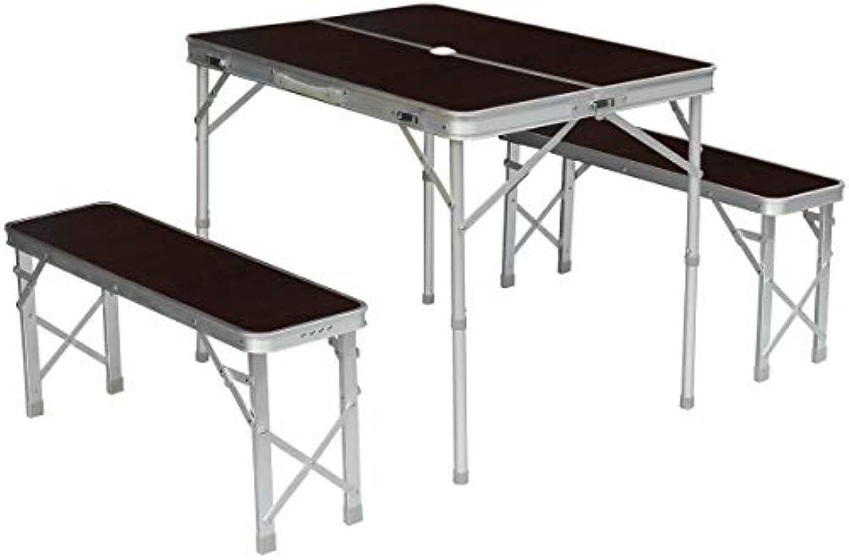 博物館精算正確にField to Summit アルミセパレートテーブルセット ブラウン ST9800WDBK