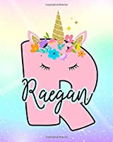 Raegan: Girls Unicorn Journal to Write In | Personalized Journal
