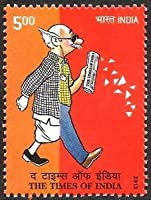 Times of India News Paper, Journalism, Cartoon Rs. 5 Indian Stamp