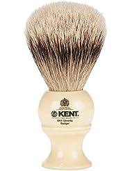 [ ケント ブラシ ] Kent Brush シルバーチップアナグマ シェービングブラシ (Mサイズ) BK4 ホワイト 髭剃り [並行輸入品]