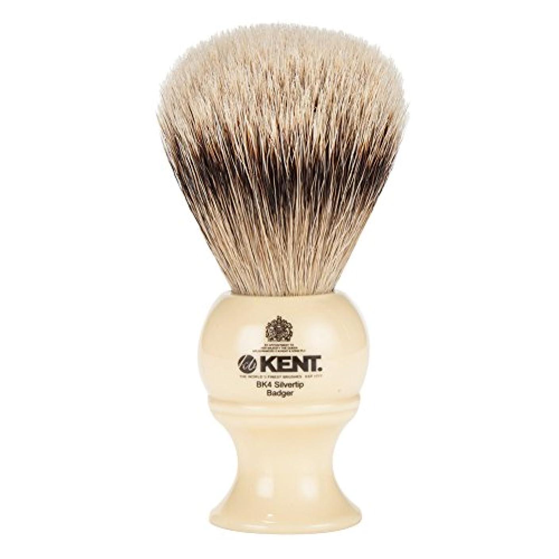 連想半球俳句[ ケント ブラシ ] Kent Brush シルバーチップアナグマ シェービングブラシ (Mサイズ) BK4 ホワイト 髭剃り [並行輸入品]